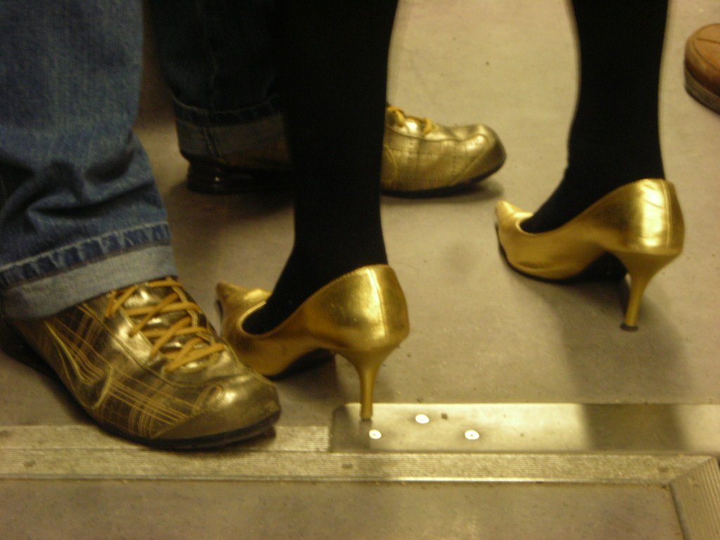 Golden Shoes Men and Women