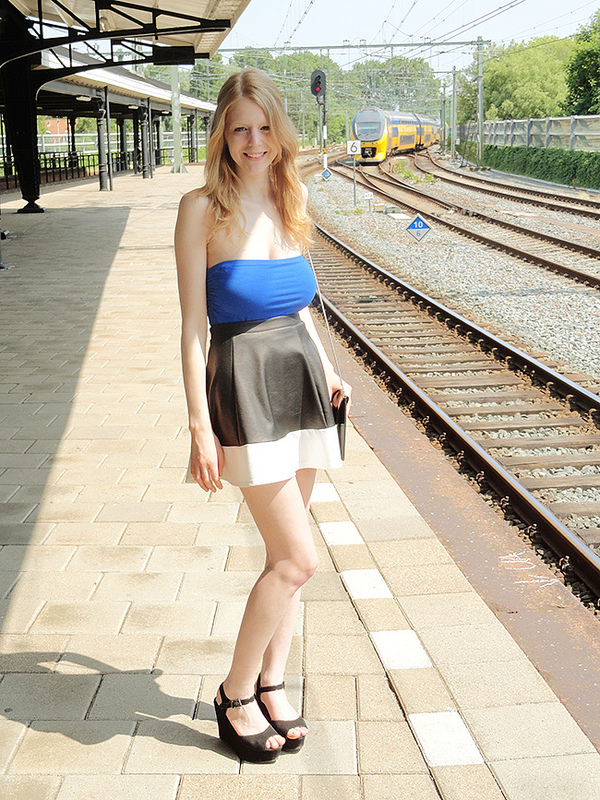 Leather Skirt Outdoors