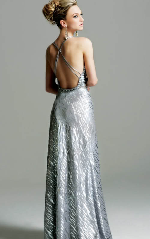 Open Back Prom Gown